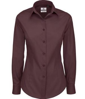 Bluzka Black Tie Elastane z długimi rękawami damska