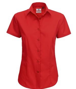 Bluzka popelinowa z krótkimi rękawami damska