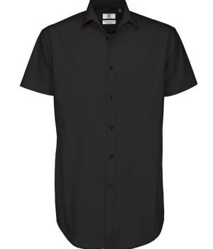 meska Koszula Black Tie Elastane z krótkimi rękawami